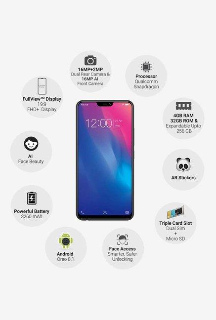 Vivo V9 Youth 32 GB (Black) 4 GB RAM, Dual SIM 4G