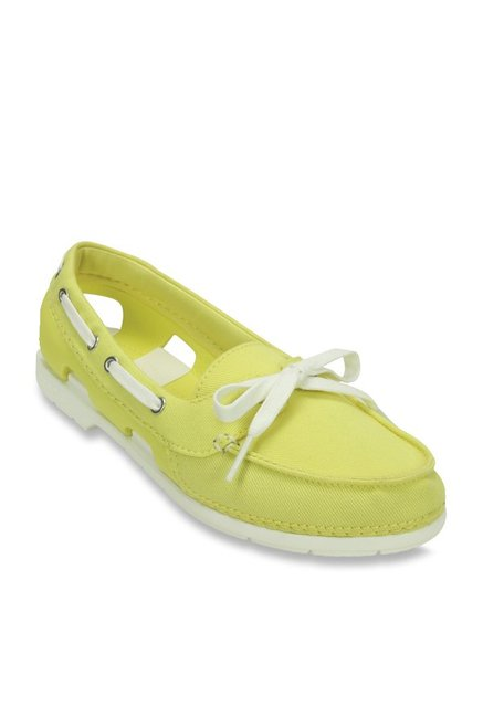 2cac19def3cb Buy Crocs Beach Line Hybrid Yellow Boat Shoes for Women at Best ...