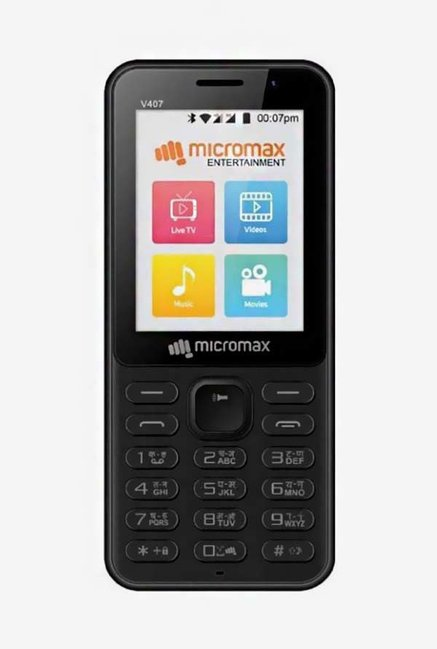 Micromax Bharat 1  Black  Single SIM
