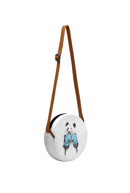 478c57f6f Buy Daily Objects The Winner White & Sky Blue Printed Sling Bag For ...
