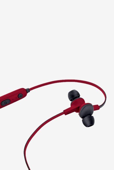 iball Musi Sporty BT19 Bluetooth Headset with Mic  Red