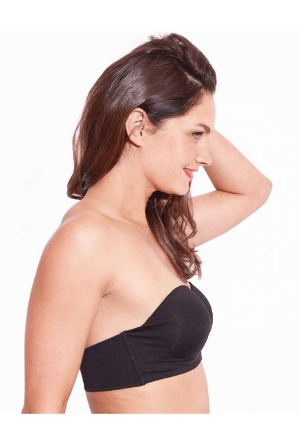 48ff3a729a Buy Enamor Black Under Wired Padded Bandeau Bra for Women Online ...
