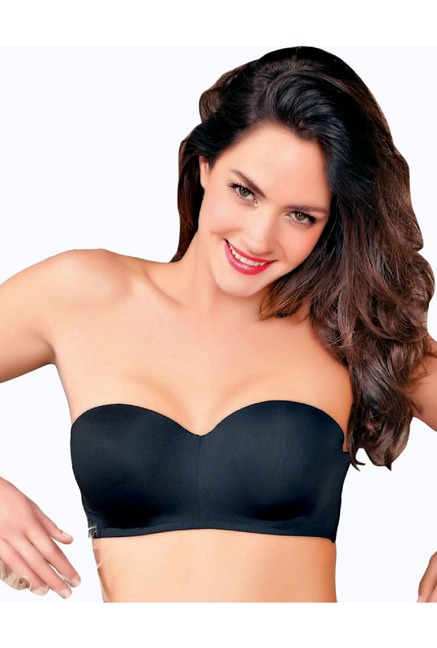 65f912a3a0117 Buy Enamor Black Under Wired Padded Bandeau Bra for Women Online   Tata CLiQ