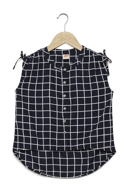 193d4ab16f Y&F Kids by Westside Navy Checked Zara Top