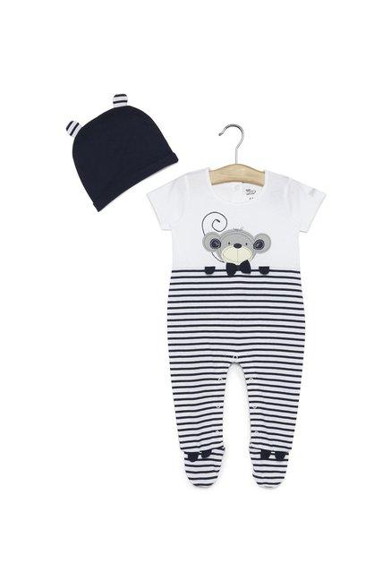 ec57fe32bcb1 Buy Baby HOP by Westside Navy Monkey Sleepsuit Set for Infant Boys Clothing  Online @ Tata CLiQ