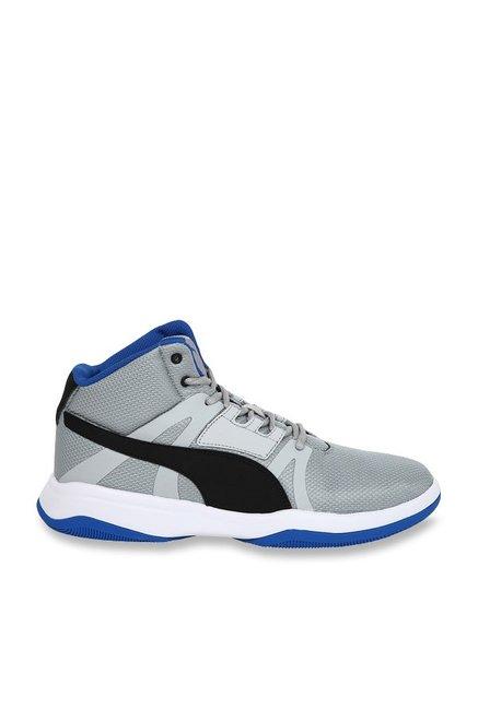 d81f9a4dd5aecf Buy Puma Rebound Street Evo IDP Quarry   Black Basketball Shoes for ...