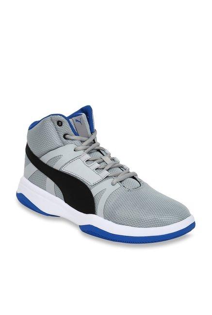05b3b81ab38 Buy Puma Rebound Street Evo IDP Quarry   Black Basketball Shoes for Men at  Best Price   Tata CLiQ