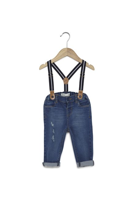 1e89a1f3d79b1 Buy Baby HOP by Westside Indigo Denim Jeans with Brace for Infant Boys  Clothing Online @ Tata CLiQ