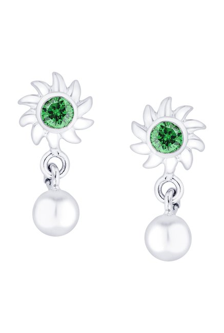 cca41585a2 Buy Taraash Floral 925 Sterling Silver Earrings Online At Best Price @ Tata  CLiQ
