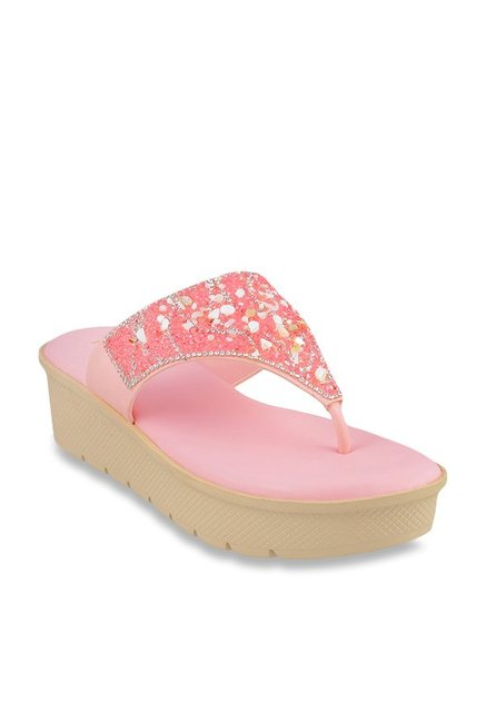 3f0cfeeec Buy Mochi Blush Pink Thong Sandals for Women at Best Price   Tata ...
