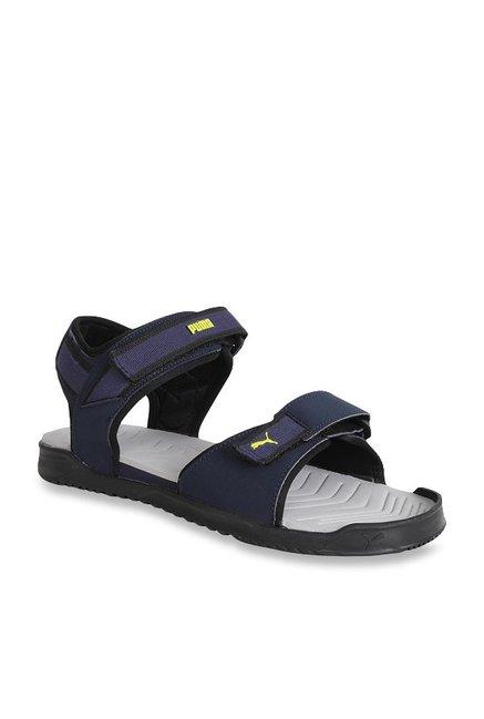 8ef6c9117f002e Buy Puma Shine IDP Peacoat Floater Sandals for Men at Best Price   Tata CLiQ