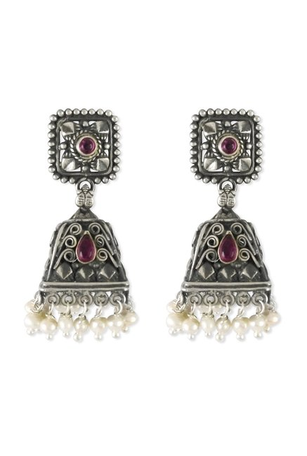 92375bb7a3 Buy Taraash Antique 925 Sterling Silver Earrings Online At Best Price @  Tata CLiQ