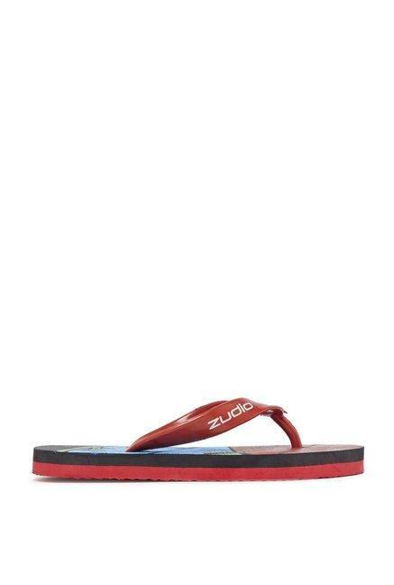 3e5946c71 Buy Zudio Red Printed Flip-Flops For Kids Online At Tata CLiQ