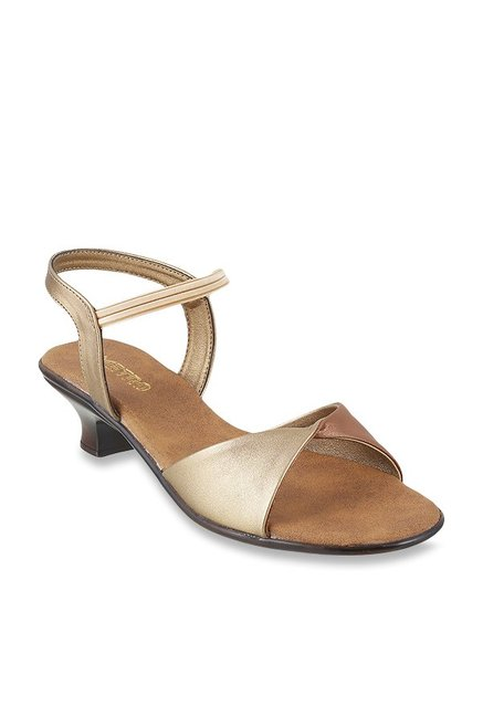 cb3627936eb Buy Metro Antique Gold Sling Back Sandals for Women at Best Price   Tata  CLiQ