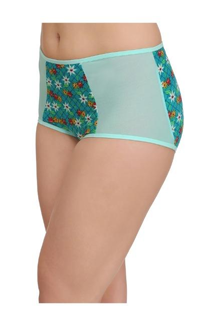 0772e5d78428 Buy Clovia Green Floral Print Hipster Panty for Women Online @ Tata CLiQ