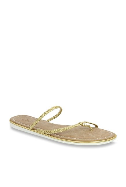 fb113e3f6b84c Buy Inc.5 Golden Casual Sandals for Women at Best Price   Tata CLiQ