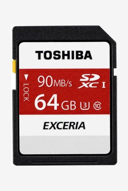 Toshiba N302 64 GB SDXC Memory Card (Black/Red)