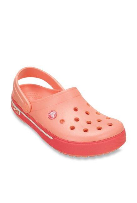 1e5599fa6ad1d Buy Crocs Crocband II.5 Peach Back Strap Clogs for Women at Best Price    Tata CLiQ