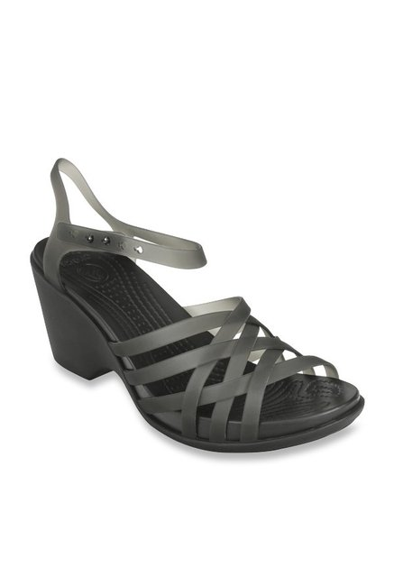 a671fadb5355 Buy Crocs Huarache Black Ankle Strap Sandals for Women at Best ...