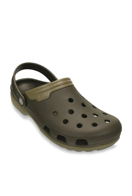 5661f3436946 Buy Crocs Duet Dark Brown Back Strap Clogs for Women at Best Price   Tata  CLiQ