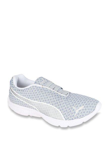 Buy Puma Fashin Alt Filtered Baja Blue   Silver Sneakers for Women at Best  Price   Tata CLiQ 2126e81cdd