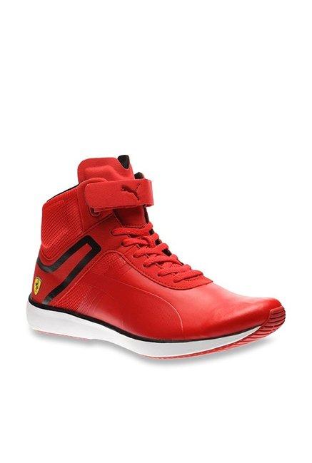 04eb925b6e05 Buy Puma Ferrari SF F116 Rosso Corsa Ankle High Sneakers for Men at Best  Price   Tata CLiQ