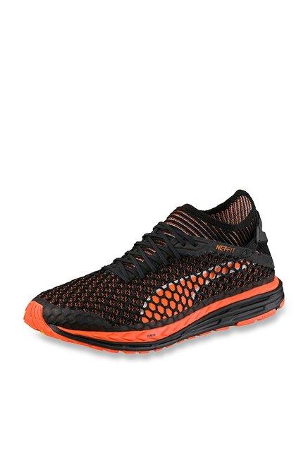 Buy Puma Speed Ignite Netfit Black & Orange Running Shoes