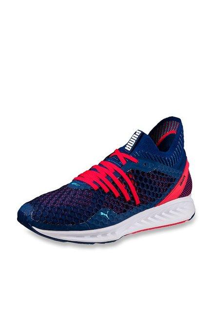 Buy Puma Ignite Netfit Blue Depths & Toreador Running Shoes