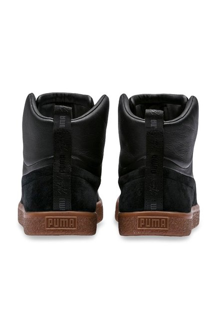 quality design b0dbe 0ed65 Buy Puma Clyde Fshn Mid Naturel Black Ankle High Sneakers ...