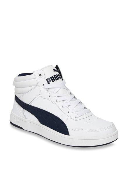 feaf923ea5 Buy Puma Rebound Street V2 L JR IDP White Ankle High Sneakers for ...