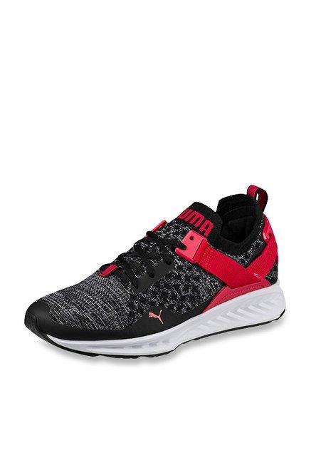 a53a2b6751d4 Buy Puma Ignite evoKNIT Lo Black   Toreador Running Shoes for ...