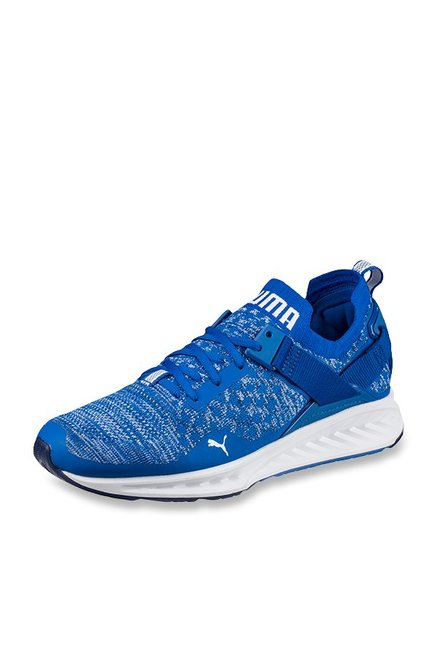 new concept 1c574 84a63 Buy Puma Ignite evoKNIT Lo Lapis Blue Running Shoes for Men ...