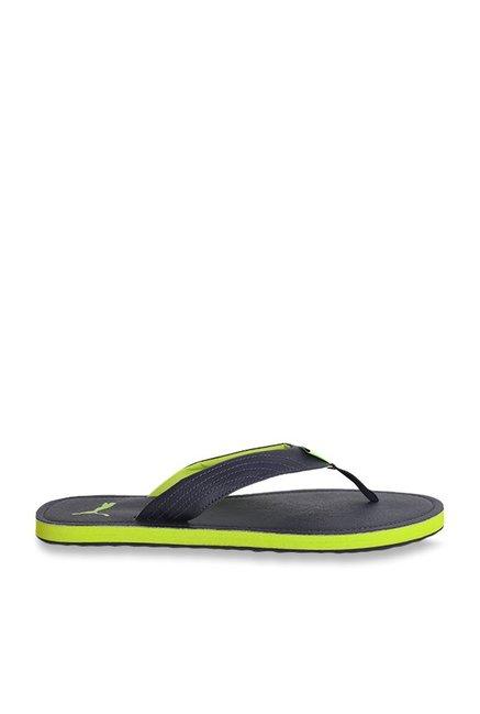 4588682fc7 Buy Puma Ketava III DP Peacoat & Lime Punch Flip Flops for Men at ...