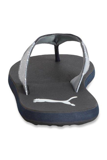 b981c9bd8 Buy Puma Winglet II DP Peacoat   Quarry Flip Flops for Men at Best ...
