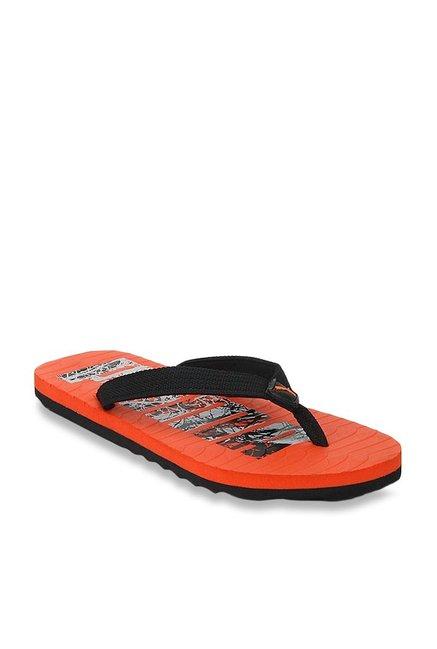 Buy Puma Miami Fashion DP Black   Orange Flip Flops for Men at ... 3b6230380