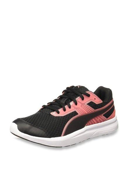 302c070c642085 Buy Puma Escaper Pro Black   Soft Fluo Peach Running Shoes for Women at  Best Price   Tata CLiQ