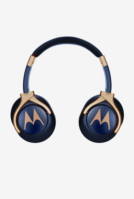 Motorola Pulse 3 Over the Ear Headphones  Blue and Gold
