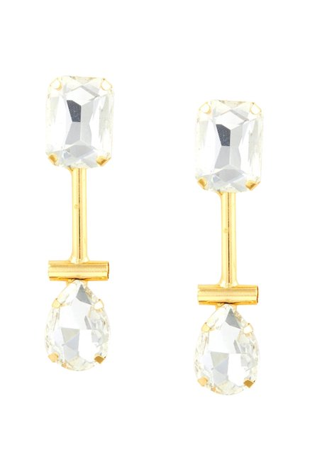 Tipsyfly Pear Metal Drop Earrings Online At Best Price