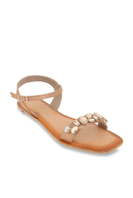 Ankle Cliq Tan Sandals For Catwalk Buy Strap Best PriceTata Women At lKTcu13FJ