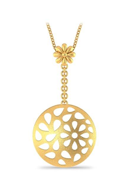 P.N.Gadgil Jewellers Cluster 22 kt Gold Pendant