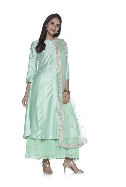 6e9cc5eac9 Buy Vark by Westside Sea Green Palazzo Ethnic Set for Women Online @ Tata  CLiQ
