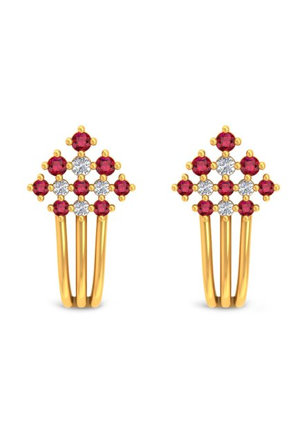 bb031ee04 Buy P.N.Gadgil Jewellers Nature 22 kt Gold Earrings Online At Best Price @  Tata CLiQ