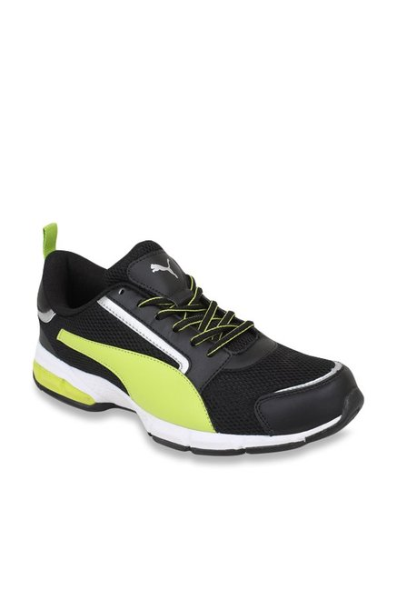 dbc4a54b7dfb Buy Puma Triton IDP Black   Fluorescent Green Running Shoes for Men at Best  Price   Tata CLiQ