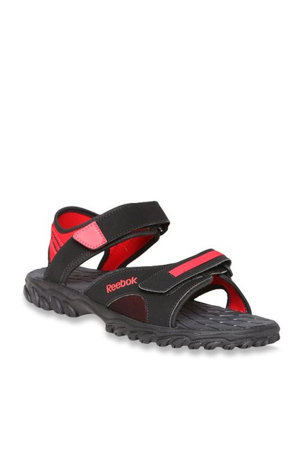 d18f07ec9 Buy Reebok Adventure Chrome Black   Red Floater Sandals for Men ...