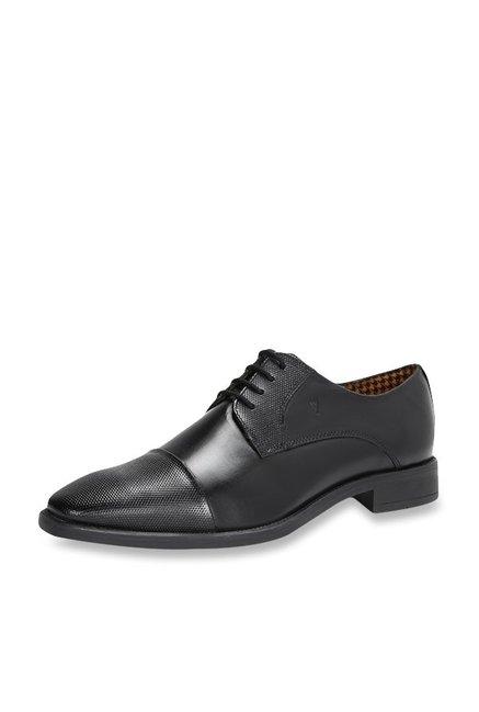 3f085b4234 Buy Van Heusen Black Derby Shoes for Men at Best Price   Tata CLiQ