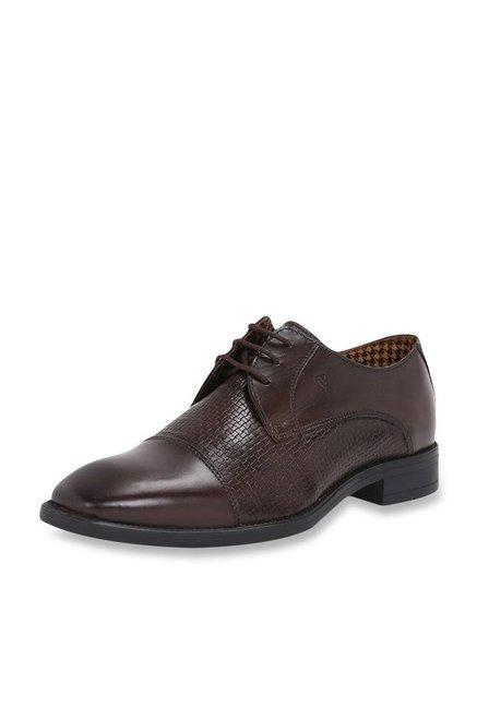 48fb01771a Buy Van Heusen Dark Brown Derby Shoes for Men at Best Price   Tata CLiQ
