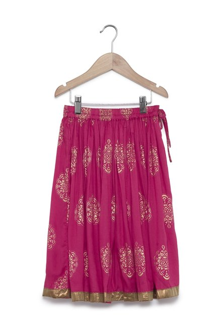 a62b42fb3c Buy Zudio Fuchsia Ethnic Skirt for Girls Clothing Online @ Tata CLiQ