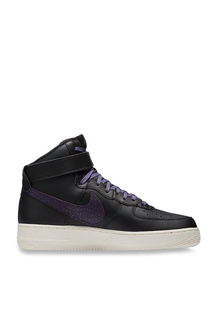 1fe23b01b75 Buy Nike Air Force 1 High Black   Purple Ankle High Sneakers for ...