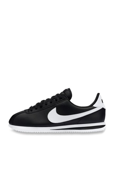 new style e28bf 481a0 Buy Nike Cortez Basic Black Sneakers for Men at Best Price   Tata CLiQ