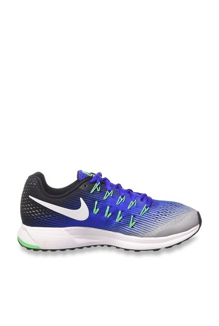 new styles fa805 1290e Buy Nike Air Zoom Pegasus 33 Wolf Grey & Blue Running Shoes ...